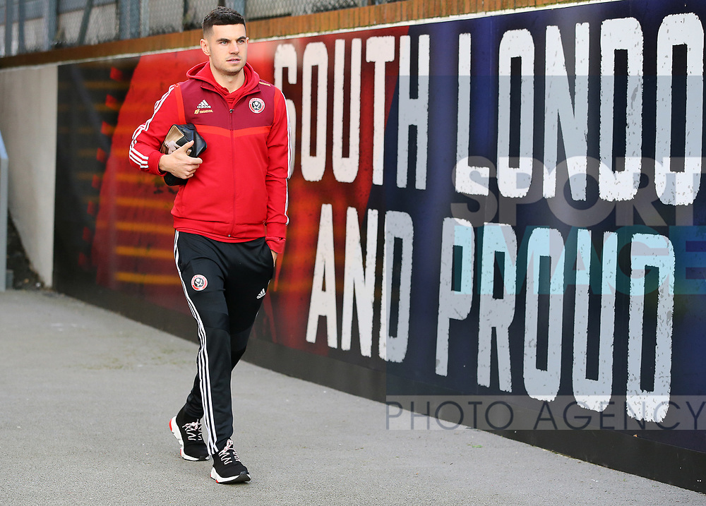 Sheffield United's John Egan arrives ahead of the Premier League match at Selhurst Park, London. Picture date: 1st February 2020. Picture credit should read: Paul Terry/Sportimage