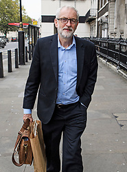 © Licensed to London News Pictures. 03/10/2019. London, UK. Labour Party Leader JEREMY CORBYN is seen in Westminster, London. British Prime Minister Boris Johnson had sent a new Brexit proposal to the EU ahead of an EU summit later this month. Photo credit: Ben Cawthra/LNP
