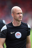 Referee Anthony Taylor looks on prior to kick off. Premier league match, Stoke City v Tottenham Hotspur at the Bet365 Stadium in Stoke on Trent, Staffs on Saturday 10th September 2016.<br /> pic by Chris Stading, Andrew Orchard sports photography.
