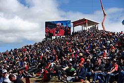 October 7, 2018 - Bathurst, NSW, U.S. - BATHURST, NSW - OCTOBER 07: Big crowd watch Roger Penske interviewed at the Supercheap Auto Bathurst 1000 V8 Supercar Race at Mount Panorama Circuit in Bathurst, Australia on October 07, 2018 (Photo by Speed Media/Icon Sportswire) (Credit Image: © Speed Media/Icon SMI via ZUMA Press)
