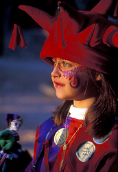 Stock photo of a young participant in medieval costume at the Renaissance Festival.