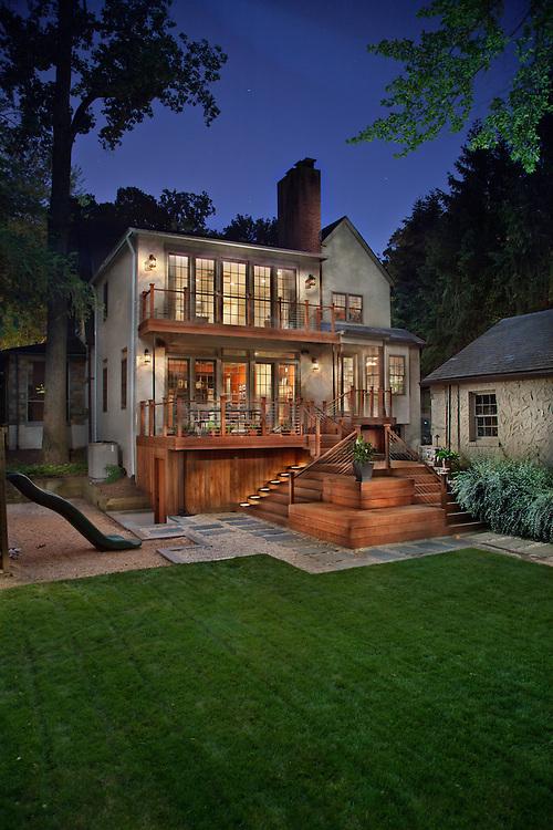 House rear exterior Deck patio Verandah Porch