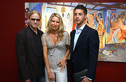 Left to right,  JAMIE WOOD, SERENA MORTON and HARRY LANGTON at a private view of artist Damian Elwes work 'Artists Studios' held at Scream, 34 Bruton Street, London W1 on 29th June 2006.<br /><br />NON EXCLUSIVE - WORLD RIGHTS