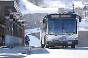 SHOT 3/2/17 11:01:18 AM - Park City, Utah lies east of Salt Lake City in the western state of Utah. Framed by the craggy Wasatch Range, it's bordered by the Deer Valley Resort and the huge Park City Mountain Resort, both known for their ski slopes. Utah Olympic Park, to the north, hosted the 2002 Winter Olympics and is now predominantly a training facility. In town, Main Street is lined with buildings built primarily during a 19th-century silver mining boom that have become numerous restaurants, bars and shops. (Photo by Marc Piscotty / © 2017)