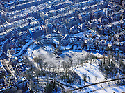 Nederland, Noord-Holland, Amsterdam, 13-02-2021; schaatsers op de vijvers in het Vondelpark.<br /> Ice skaters on the ponds in the Vondelpark.<br /> <br /> luchtfoto (toeslag op standaard tarieven);<br /> aerial photo (additional fee required)<br /> copyright © 2021 foto/photo Siebe Swart