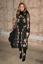 Olivia Palermo on the front row during the Erdem Autumn/Winter 2017 London Fashion Week show at the Old Selfridge's Hotel, London.PRESS ASSOCIATION Photo. Picture date: Monday February 20th, 2017. Photo credit should read: Matt Crossick/PA Wire.