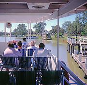 Passengers on a paddle steamer boat, Murray River, Mildura, Australia