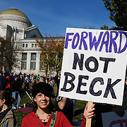 Signs about Glenn Beck
