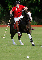 TIDWORTH, WILTSHIRE, UK: Prince William plays for the Army in the Rundle Cup Polo match, between the Army and the Navy, at Tidworth Polo Club, on the 14th July 2007...PHOTOGRAPH BY JAMES WHATLING