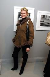 MISS FIONA SCARRY at a private view of an exhibition of photographs by the late Robert Mapplethorpe curated by artist David Hockney at the Alison Jacques Gallery, 4 Clifford Street, London W1 on 13th January 2005.<br /><br />NON EXCLUSIVE - WORLD RIGHTS