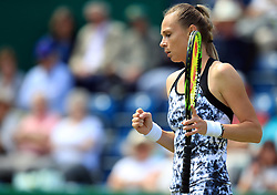 Slovakia's Magdalena Rybarikova reacts during her quarter final against Slovenia's Dalila Jakupovic during day five of the Nature Valley Classic at Edgbaston Priory, Birmingham.