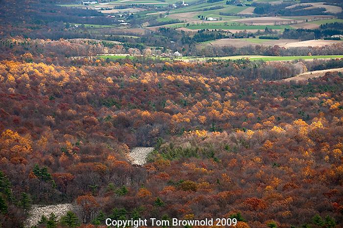 Pennsylvania farm land from Hawk mountain.