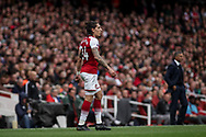 Hector Bellerin Of Arsenal in action.<br /> Premier league match, Arsenal v Brighton & Hove Albion at the Emirates Stadium in London on Sunday 1st October 2017. pic by Kieran Clarke, Andrew Orchard sports photography.