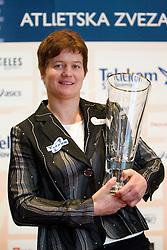Martina Ratej poses with her Athlete of the Year Award during the Slovenia's Athlete awards ceremony by Slovenian Athletics Federation AZS, on November 12, 2008 in Hotel Mons, Ljubljana, Slovenia.(Photo By Vid Ponikvar / Sportida.com) , on November 12, 2010.