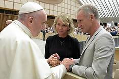 Pope Francis Meets Sting And His Wife - Vatican 8 Aug 2018