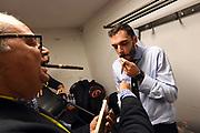 Marco Atripaldi, Paolo Galbiati<br /> Fiat Auxilium Torino - Germani Leonessa Basket Brescia<br /> PosteMobile Final 8 2018 <br /> Finale<br /> LegaBasket 2017/2018<br /> Firenze, 18/02/2018<br /> Foto M.Ceretti / Ciamillo - Castoria