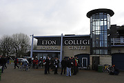 Eton, GREAT BRITAIN,  GV, General View, Coaches gather outside Boathouse, GB Trials 3rd Winter assessment at,  Eton Rowing Centre, venue for the 2012 Olympic Rowing Regatta, Trials cut short due to weather conditions forecast for the second day Saturday  12/02/2011   [Photo, Peter Spurrier/Intersport-images]