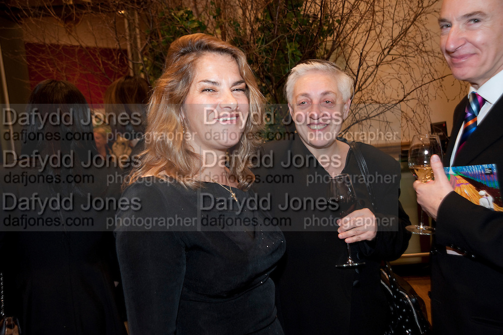 TRACEY EMIN; RUTH MACKENZIE; DIRECTOR OF THE CULTURAL OLYMPIAD; MARTIN DUNCOMBE, Opening of David Hockney ' A Bigger Picture' Royal Academy. Piccadilly. London. 17 January 2012