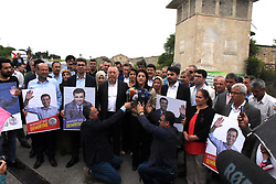 Pro-Kurdish Peoples' Democratic Party (HDP) has started its campaign for June 24 Turkish Presidential and general election by posting the posters and slogans it prepared. HDP has declared their imprisoned leader Selahattin Demirtas as the candidate in presidential elections. Selahattin Demirtas has been in jail at Edirne since 2016. Photo by DepoPhotos/ABACAPRESS.COM