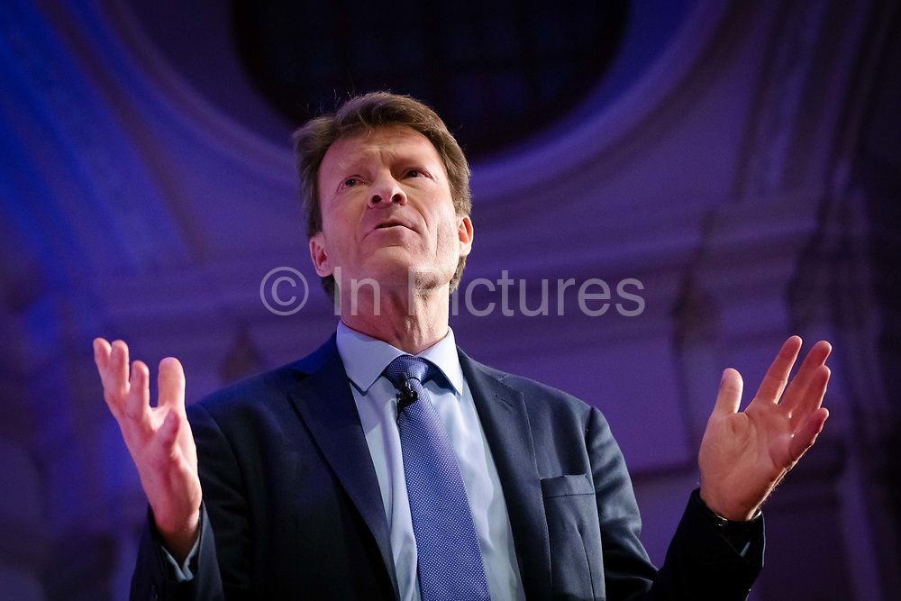 Co-chair Richard Tice speaking at a 'Brexit:Let's Go WTO Rally' organised by the Leave Means Leave campaign in Westminster, London, UK on January 17, 2019 where leading business and political Brexiteers discussed why WTO rules will allow Great Britain to thrive outside the European Union after Brexit.