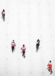 17.03.2017, Ramsau am Dachstein, AUT, Special Olympics 2017, Wintergames, Schneeschuhlauf, Divisioning 100 m, im Bild fünf Athletinnen in Aktion // five athletes on track during the Snowshoeing Divisioning 100 m at the Special Olympics World Winter Games Austria 2017 in Ramsau am Dachstein, Austria on 2017/03/17. EXPA Pictures © 2017, PhotoCredit: EXPA / Martin Huber