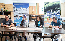 11.06.2019, Kals am Grossglockner, AUT, Laura Stigger Bike Challenge, Pressekonferenz, im Bild Alois Rathgeb (Gemnova), Laura Stigger, BGM Erika Rogl, Franz Theurl (TVBO) // Alois Rathgeb (Gemnova), Laura Stigger, BGM Erika Rogl, Franz Theurl (TVBO) during a press conference for the Laura Stigger Bike Challenge in Kls am Grossglockner. Austria on 2019/06/11. EXPA Pictures © 2019, PhotoCredit: EXPA/ Johann Groder