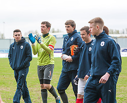 Falkirk's keeper Michael McGovern at the end of the last game of the season..Falkirk 4 v 1 Morton, 4/5/2013..© Michael Schofield..