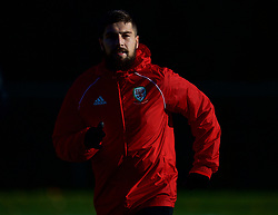 CARDIFF, WALES - Sunday, November 18, 2018: Wales' Kieron Freeman during a training session at the Vale Resort ahead of the International Friendly match between Albania and Wales. (Pic by David Rawcliffe/Propaganda)