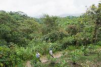 Lodge owner Jorge Cruz (left) and an employee at San Jorge de Milpe Eco-Lodge, Ecuador