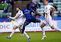 Fotball , 20. april 2016 , Tippeligaen , Eliteserien , <br /> Stabæk - Strømsgodset <br /> <br /> Mounir Hamoud , SIF<br /> Arnest Asante , Stabæk<br /> Gustav Valsvik , SIF