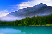 Alaska, Haines, Chilkoot Lake, Morning Fog