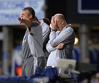 Photo: Ashley Pickering.<br /> Ipswich Town v Coventry City. Coca Cola Championship. 22/09/2007.<br /> The stress starts to show on Coventry manager Iain Dowie's (R) face as his side go down 3-0 in the first half to Ipswich