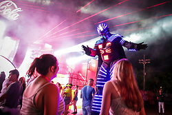Movimento de Publico durante a 25ª edição do Planeta Atlântida. O maior festival de música do Sul do Brasil ocorre nos dias 31 Janeiro e 01 de fevereiro, na SABA, praia de Atlântida, no Litoral Norte do Rio Grande do Sul. FOTO: <br /> Felipe Nogs/ Agência Preview