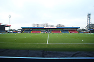 General view during the EFL Sky Bet League 1 match between Rochdale and Wigan Athletic at the Crown Oil Arena, Rochdale, England on 16 January 2021.