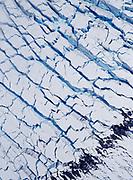 Crevasse pattern in Eliza Glacier, Fairweather Ranges, Tatshenshini-Alsek Provincial Wilderness Park, British Columbia, Canada.