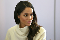 © Licensed to London News Pictures. 08/03/2018. Birmingham, UK. MEGAN MARKLE taking part in a discussion while attending Stemettes International Women's Day event at Millennium Point in Birmingham. Photo credit: Dave Warren/LNP