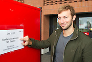 "Swimmer Ian THORPE of Australia points to a placard announcing his press confercene held at the Centro sportivo nazionale della gioventu (""youth and sports""-Centre) in Tenero, Switzerland, Wednesday, March 16, 2011. Five-time Olympic gold medallist Ian Thorpe has finalised his coaching set-up ahead of next year's London Olympic Games, announcing today that he will link up with former Australian Institute of Sport Coach and Russian born Gennadi Touretski in Switzerland. (Photo by Patrick B. Kraemer / MAGICPBK)"