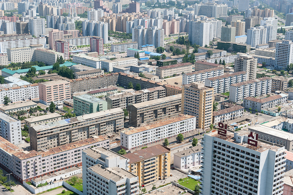 Aerial view from the Juche Tower, Pyongyang, North Korea