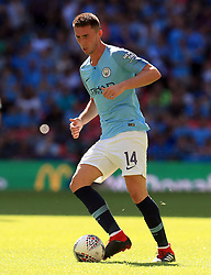 Manchester City's Aymeric Laporte during the Community Shield match at Wembley Stadium, London
