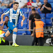 BARCELONA, SPAIN - August 18:  Victor Campuzano #31 of Espanyol in action during the Espanyol V  Sevilla FC, La Liga regular season match at RCDE Stadium on August 18th 2019 in Barcelona, Spain. (Photo by Tim Clayton/Corbis via Getty Images)