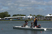 2005 FISA World Cup, Dorney Lake, Eton, ENGLAND, 28.05.05. GV's around the finish area and presentation boating dock and awards dock and backdrop..Photo  Peter Spurrier. .email images@intersport-images....[Mandatory Credit Peter Spurrier/ Intersport Images] , Rowing Courses, Dorney Lake, Eton. ENGLAND