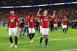 Ander Herrera of Manchester United celebrates with his team mates - Mandatory by-line: Matt McNulty/JMP - 26/02/2017 - FOOTBALL - Wembley Stadium - London, England - Manchester United v Southampton - EFL Cup Final