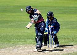 Lauren Winfield of England skies a shot and is caught out off the bowling from Ama Kanchana of Sri Lanka Women - Mandatory by-line: Robbie Stephenson/JMP - 02/07/2017 - CRICKET - County Ground - Taunton, United Kingdom - England Women v Sri Lanka Women - ICC Women's World Cup Group Stage