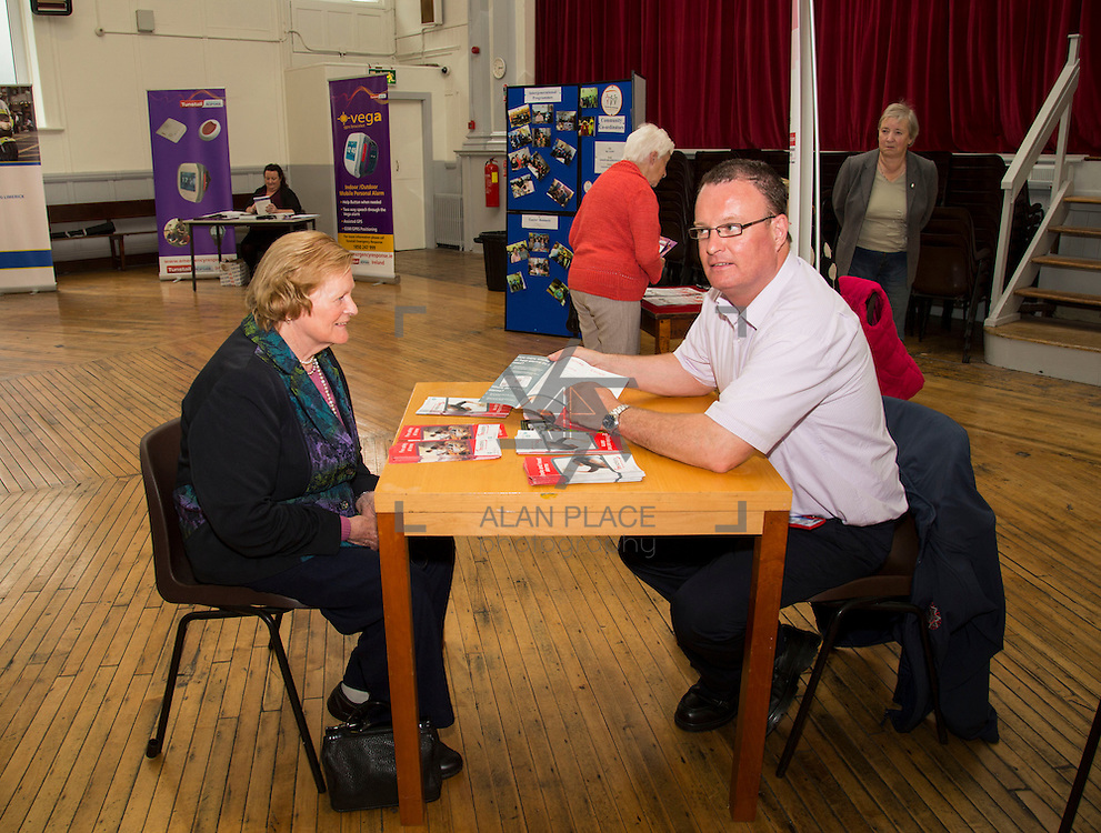 01.10.14            <br /> The Limerick City Community Safety Partnership will host a Safety Information Day for Older People. The event will feature important personal and home safety information for older people. Nutritional advice, occupational therapy, and care and repair demonstrations will also be provided. Advice and literature on a range of issues will be provided on the day by agencies including An Garda Síochána, Limerick City and County Council, Home Instead Senior Care, Limerick Fire and Rescue Service and the HSE. <br /> Attending the event at St. Johns Pavilion were, Anne English, Kilfinane with Gearoid Browne, Fire Officer. Picture: Alan Place.