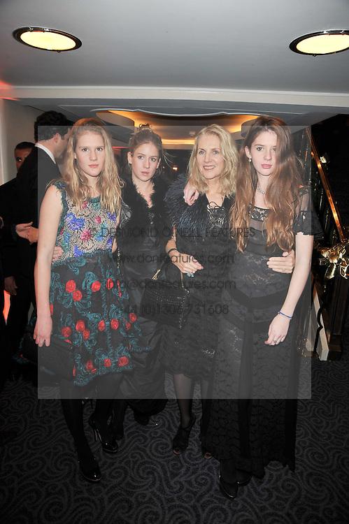 Left to right, ANNA BOGLIONE, LARA BOGLIONE, GAEL BOGLIONE and RUBY BOGLIONE at Quintessentially's 10th birthday party held at The Savoy Hotel, London on 13th December 2010.