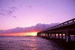 Card Sound Bridge at sunset, Key Largo, Florida