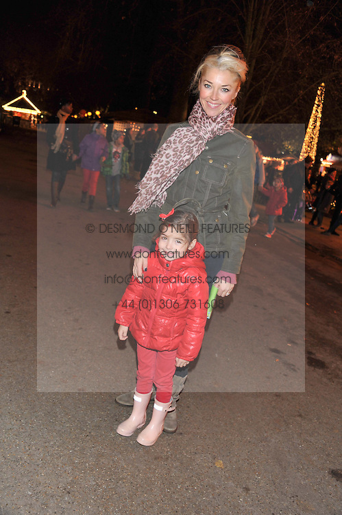 TAMARA BECKWITH and her daughter VIOLET at the opening of the 2012 Winter Wonderland, Hyde Park on 22nd November 2012.
