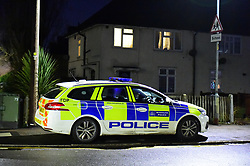 © Licensed to London News Pictures. 20/12/2019. London UK: Police outside a property in Halbutt street, Dagenham, east London after a 16 year old male was found dead at the address. Detectives are questioning a 50 year old female in connection with the investigation, Photo credit: Steve Poston/LNP