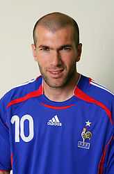 May 09, 2006; Paris, FRANCE; France announces the athletes who will compete on the France World Cup 2006 Team on May 9, 2006. ZINEDINE ZIDANE pictured on Nov. 11, 2005 (Credit Image: © FEP/Panoramic/ZUMAPRESS.com)