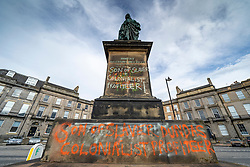 Glasgow, Scotland, UK. 12 June 2020. Police 24 hours protection of statue of Prince William of Orange in Glasgow after repeated vandalism following the Black Lives Matter protests. Iain Masterton/Alamy Live News